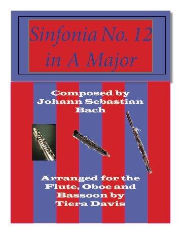 """Sinfonia No. 12 in A Major"" by Johann Sebastian Bach"