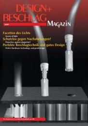 auf vorderen Plätzen Design+Beschlag Magazin Ausgabe 2009