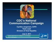 PDF Slide Presentation of CDC's National Communication Campaign