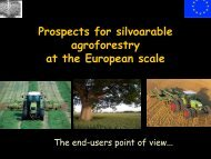 Prospects for silvoarable agroforestry at the European scale - Inra