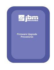 Firmware Upgrade Procedures