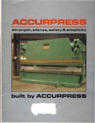 built; by ACCURPRESS - Sterling Machinery