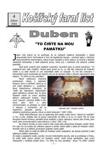 Duben 2004 (pdf) - Košířská farnost