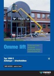 Technische Daten - Dorn Lift Arbeitsbühnen