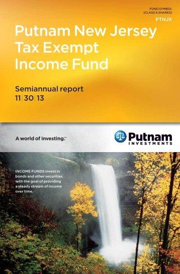 New Jersey Tax Exempt Income Fund Semi-Annual Report - Putnam ...