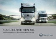 Broschüre ProfiTraining 2013 - Mercedes-Benz Deutschland