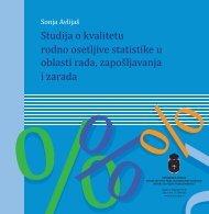 Studija o kvalitetu rodno osetljive statistike u oblasti rada ...