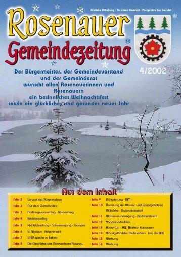 04. Ausgabe 2002 (0 bytes) - Rosenau am Hengstpaß - Land ...