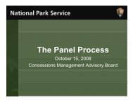 NPS Evaluation Process Review - National Park Service ...