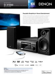 D-X1000 - Audio Products Australia