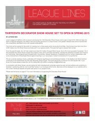 THIRTEENTH DECORATOR SHOW HOUSE SET TO OPEN IN SPRING 2015
