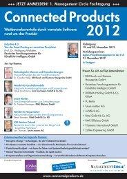 Vorankündigung: Connected Products 2012 - Management Circle