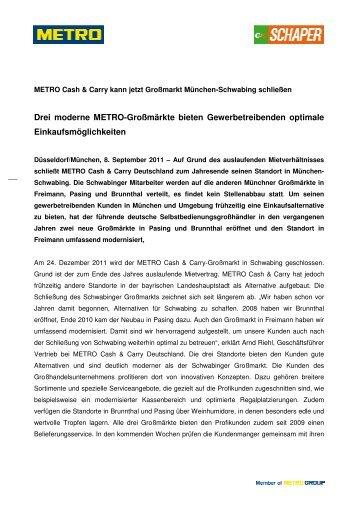 Pressemitteilung_Drei moderne METRO-Großmärkte bieten ...