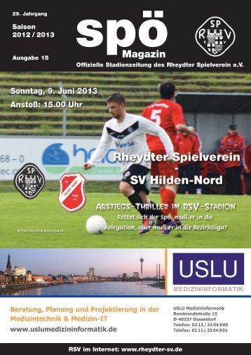 SV Hilden-Nord 4c - beim Rheydter SV