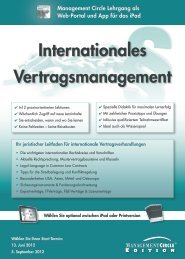 Internationales Vertragsmanagement - Management Circle AG