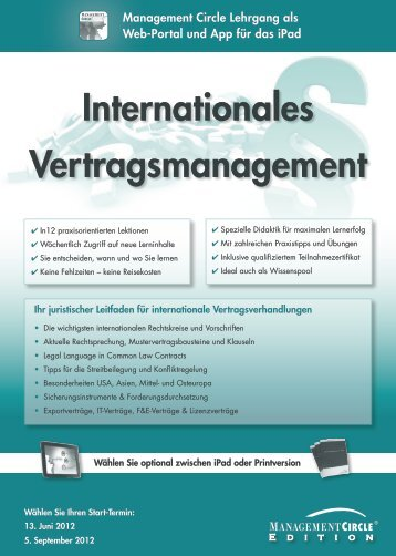 Internationales Vertragsmanagement - Management Circle AG