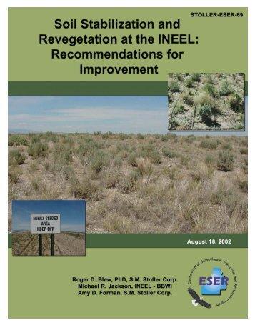 Soil Stabilization and Revegetation at the INEEL - GSS ESER Program