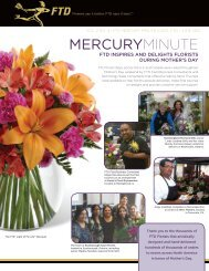 Vol. 2 No. 4 | FTD mercury miNuTe ©2012, FTD | JuNe 2012