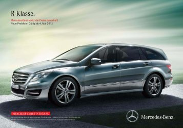 Preisliste R-Klasse - Mercedes-Benz Schweiz