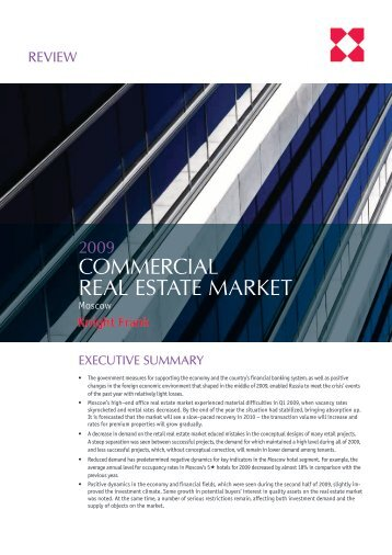 COMMERCIAL REAL ESTATE MARKET - Knight Frank