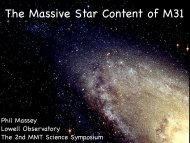 The Massive Star Content of M31 - The MMT Observatory