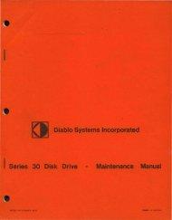 I Series 30 Disk Drive • Maintenance Manual - Al Kossow's Bitsavers