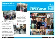 Kirchenbote Mai-Juli 2013 - Kirchengemeinde Eismannsberg