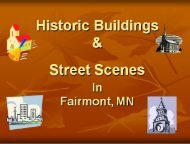 Historic Buildings and Street Scenes of Fairmont