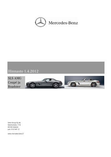 Download SLS AMG price list (PDF) - Mercedes-Benz
