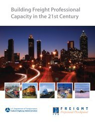 Building Freight Professional Capacity in the 21st Century - FHWA ...