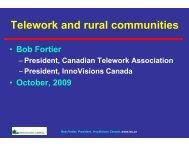 Telework and Rural Communities - Palliser Economic Partnership