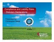 Compliance and Liability Risks - Statutory ... - Stewart McKelvey