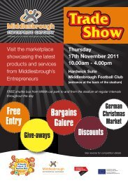 to download a flyer with full details - Middlesbrough