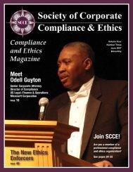 The New Ethics Enforcers - Society of Corporate Compliance and ...