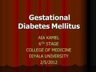 Gestational diabetes mellitus
