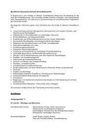 Berufliches Gymnasium Umwelt ... - Heinrich Metzendorf Schule