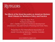 The Effects of the Great Recession on American Workers - John J ...