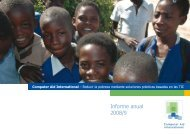 Annual Report 2008/9 Informe anual 2008/9 - Computer Aid ...