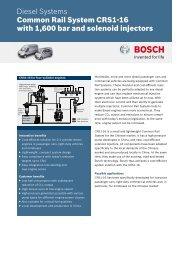 Datasheet Common Rail System CRS1-16