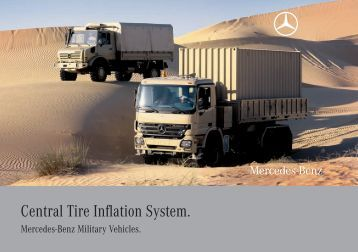 Cti seal system military central tire inflation system for Mercedes benz tire inflator