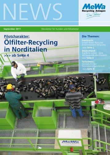 Ölfilter-Recycling in Norditalien - MeWa Recycling Maschinen und ...