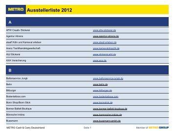 Ausstellerliste 2012 S T - Metro