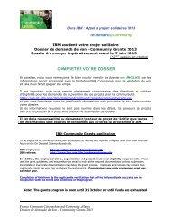 COMMUNITY GRANTS - CARA IBM