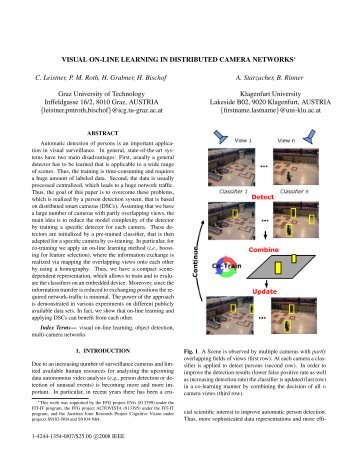 Visual On-line Learning in Distributed Camera Networks - ETHZ ...