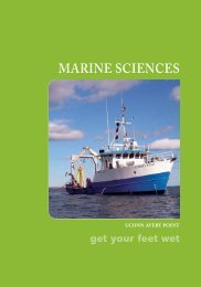 To view our brochure please click here! - Marine Sciences