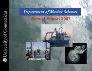 2007 Annual Report - Marine Sciences - University of Connecticut