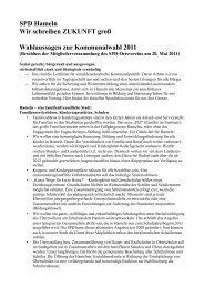 Wahlprogramm - beim SPD Ortsverein Hameln