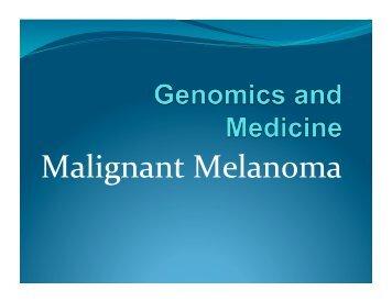 Mike Wei - Malignant Melanoma