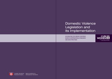 Domestic Violence Legislation and its Implementation - CEDAW ...