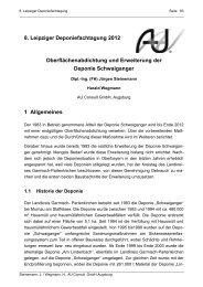 8. Leipziger Deponiefachtagung 2012 Oberflächenabdichtung und ...